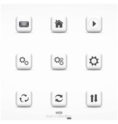 Web icon collection vector image