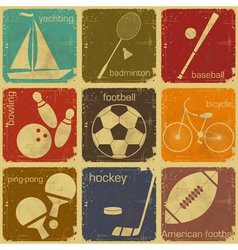 Sport icon color vector
