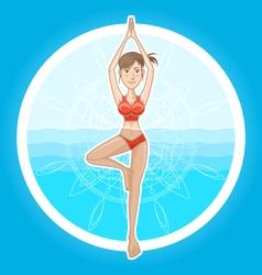 Aqua yoga vector