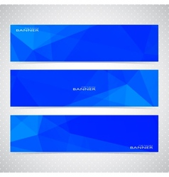 Blue Horizontal Set Of Banners Mosaic Backgrounds vector image