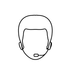 call center operator vector image