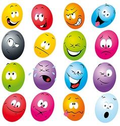 Cartoon eggs vector