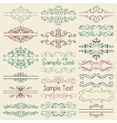 Colorful Hand Drawn Dividers Frames vector image vector image