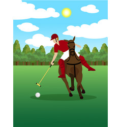 colorful polo sport template vector image