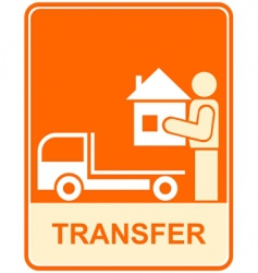 conveyance transfer sign vector image vector image