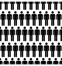 Crowd of black simple men icons seamless pattern vector image vector image