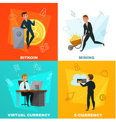 Cryptocurrency bitcoin concept vector