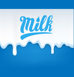 drip of milk vector image vector image