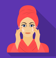 Girl single icon in flat stylegirl symbol vector