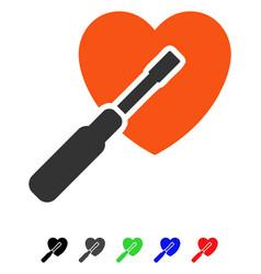 Heart tuning flat icon vector