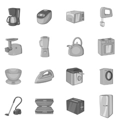 Household appliance icons set vector image