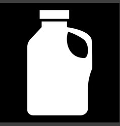 Household chemicals it is the white color icon vector