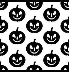 jack-o-lantern pumpkin pattern vector image vector image