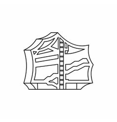 Kimchi traditional korean food icon vector