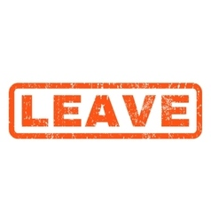 Leave Rubber Stamp vector image
