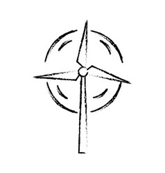 Line nature and organic windpower ecology care vector