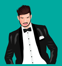 man cartoon icon face vector image