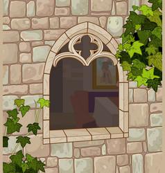 medieval window vector image