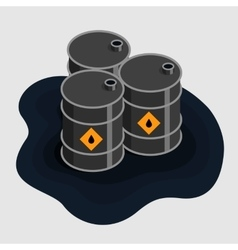 Oil fuel barrels isometric icon vector