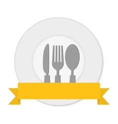 plate and silverware vector image vector image