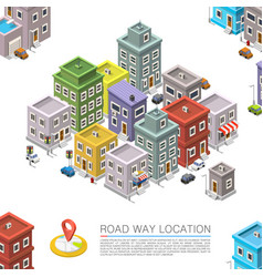 Road in the cityscape isometric city location vector