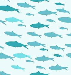Sea fish pattern vector image vector image