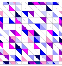 Seamless blue pink violet and white pattern vector image vector image