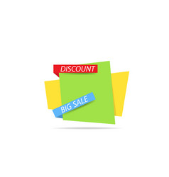 template banner of discounts and sales vector image