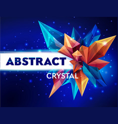 template for design image of a faceted crystal vector image vector image
