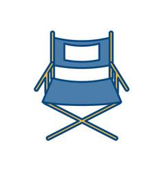 Theatre chair icon vector