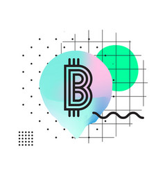 typography horizontal banner for blockchain vector image