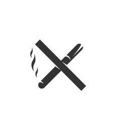 No smoking Icon logo on white background vector image