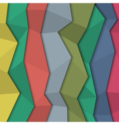 3d colored paper background origami style vector image