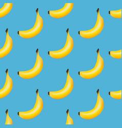 banana fruit seamless pattern vector image