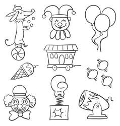 doodle animal balloon for circus vector image