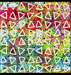 Abstract seamless pattern triangles and grunge vector