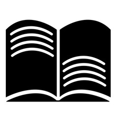 Old open magic book icon  simple style vector