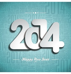 Happy new year 2014 celebration design vector