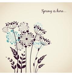 Spring dandelion flowers - background vector image