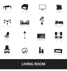 Living room icons eps10 vector