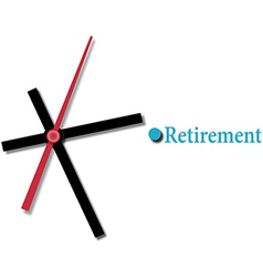 Retirement financial planning time vector image