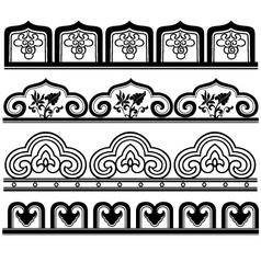 cloud floral pattern vector image