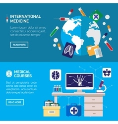International medicine and medical courses vector