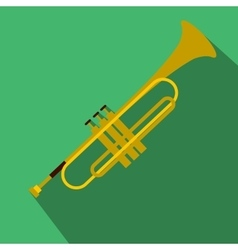 Trumpet simple flat icon vector image
