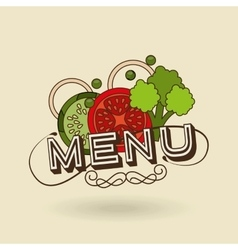 Menu delicious food design vector