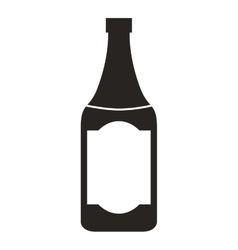 Wine bottle isolated icon design vector