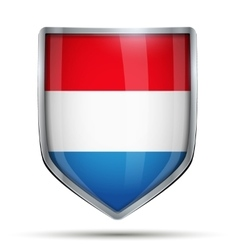 Shield with flag netherlands vector