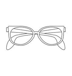 Cute sunglasses icon vector