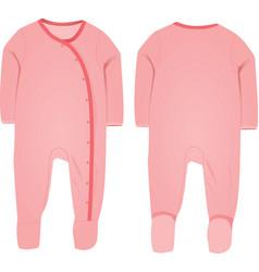 baby suit vector image