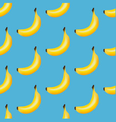 banana fruit seamless pattern vector image vector image